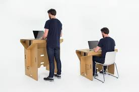 Sit And Stand Desk by Cardboard Standing Desk Refold On Behance