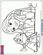 tangled princess rapunzel smiling coloring u0026