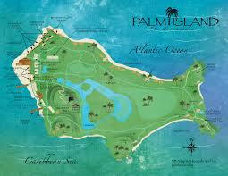 St Lucia Map Palm Island The Grenadines Resort Map Caribbean Vacation