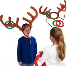menorah hat kids hat with ring toss children reindeer