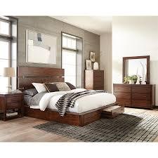 King Platform Bed Shop Scott Living Dark Cocoa King Platform Bed With Storage At