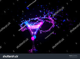 colourful cocktail on black background party stock photo 232634824