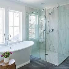 Shower Door Rails Glass Shower Door On Rails Design Ideas