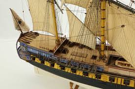french 75 gun close up photos ship model french 40 gun frigate of 18th century