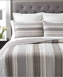 Martha Stewart Duvet Covers Martha Stewart Collection Garrison Stripe Neutral Quilts Quilts