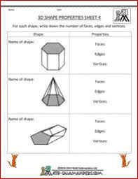 identify 3d shapes printable geometry worksheets for 2nd graders