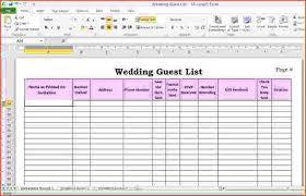 wedding website exles guest list excel template 28 images free wedding guest list