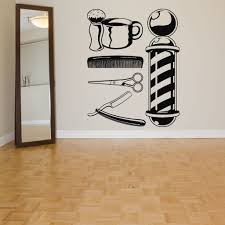 wall room decor art vinyl sticker mural decal barber shop tools