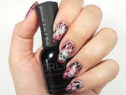 goldilocks u0026 the three nails skull u0026 spider web nail art
