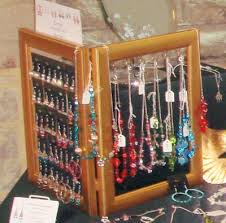 photo frame jewellery display for earrings and necklaces by helen
