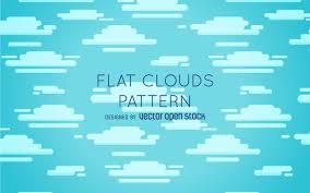 flat clouds pattern design vector