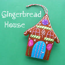gingerbread house felt ornament kit shiny happy world