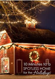 10 minutes to a spotless home this holiday season