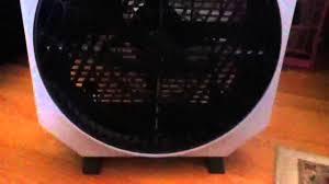 high velocity box fan patton high velocity box fan model ca 1285 youtube