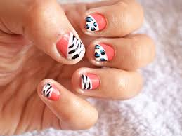 how to create a zebra and cheetah print nail art design 9 steps