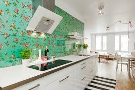 kitchen wallpaper green decorating clear