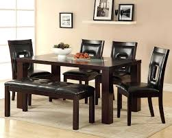 black dining room set with bench image of cute black dining table