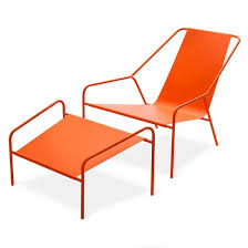 Outdoor Modern Furniture by Posture Chair And Ottoman Set Orange Modern By Dwell Magazine