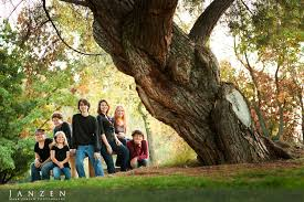 fresno photographers seven kids fall portraits from park fresno ca