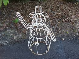 outdoor metal snowman decorations pavillion home designs
