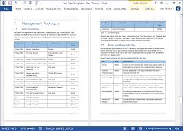 Excel Test Plan Template Software Test Plans Templates Thebridgesummit Co