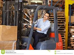 Forklift Truck Driver Jobs Man Driving Fork Lift Truck In Warehouse Royalty Free Stock Images