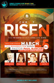 christ is risen church flyer template by seraphimblack and risen