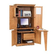Computer Desk Armoire Solid Oak Computer Armoire Amish Made Traditional Computer