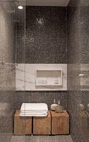 Grey Mosaic Bathroom 23 Soluções Para Apartamentos Pequenos Bathroom Niche Bath And