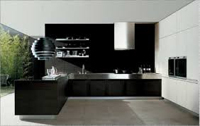 modern interior design kitchen kitchen modern kitchen interior design feature black counter top