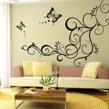 sticker mural chambre 1pcs sticker mural fleur papillon autocollant diy déco mur chambre