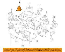 honda oem 03 07 accord engine motor mount torque strut 50820sdba01