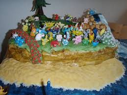 Pokemon Birthday Cake The Sandy Beach Looked Really Good Flickr