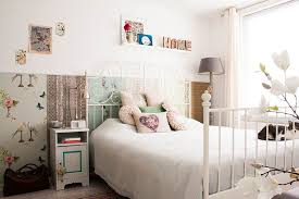 hemnes bed frame for a scandinavian bedroom with a white bedding