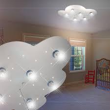 plafonnier chambre enfant luminaire de plafond led enfant argent le ciel étoilé