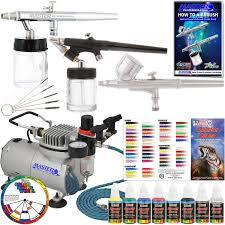 amazon com master airbrush kit sp19 20 art airbrushing system