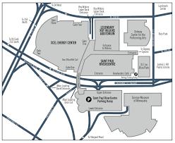 Street Parking Map Boston by Xcel Energy Center Parkign Guide Tips Maps Deals Spg