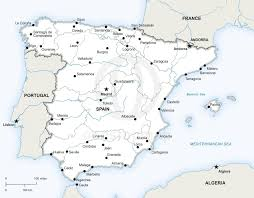 European Continent Map by Map Of Spain Political Spain And Europe Continent