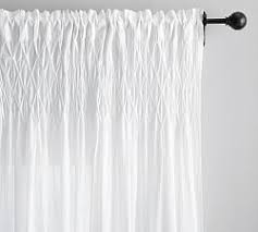White Curtains Cotton Curtains U0026 Cotton Drapes Pottery Barn