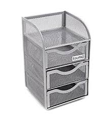 Mesh Desk Organizer Easypag Mesh Desk Organizer 3 Drawer Mini Hutch