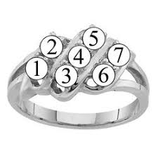7 mothers ring k 2 to 7 simulated stones s ring