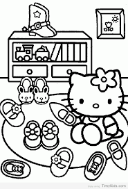 hello kitty coloring pages timykids