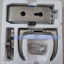 Patio Door Handle With Lock Aliexpress Com Buy Frameless Glass Door Handle Locks With Keys