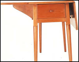 shaker table with turned tapered legs jpg