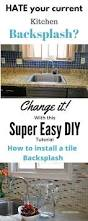 how to install a kitchen tile backsplash the easy way kitchen