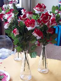 how to paint white roses red the hob bee hive