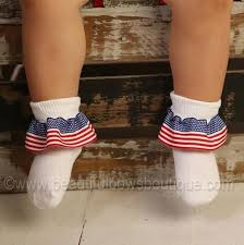 beautiful bows boutique buy usa flag ribbon ruffle socks online at beautiful bows boutique