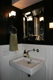 Black Powder Rooms Remodelaholic Powder Room With Black And White Walls