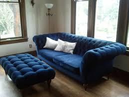 Navy Blue Leather Ottoman Sofa Leather Ottoman Coffee Table Fur Ottoman Small