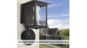 turn porch light into outlet the light socket powered wifi security camera youtube